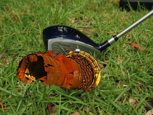 Le golf de Longwy et le haut-fourneau couché