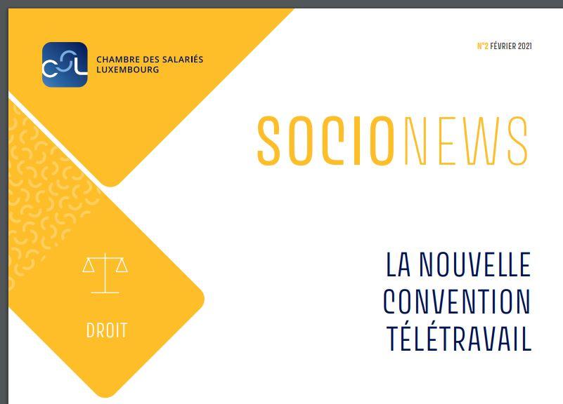 Luxembourg – La nouvelle convention télétravail